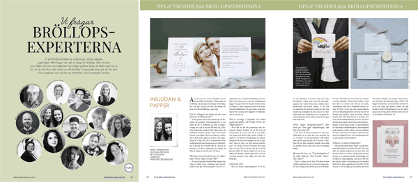 Bröllopsexperter i Bröllopsguidens magasin
