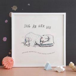 Kitty Jutbring illustration till poster för barn