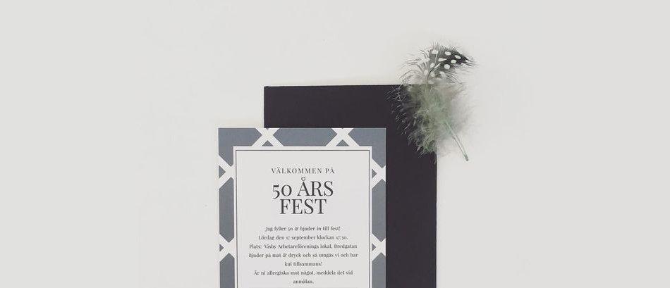 Inbjudningskort för fester