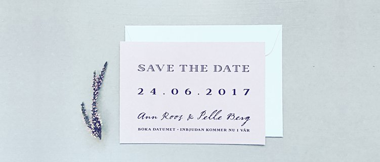 Banner Save the date kort