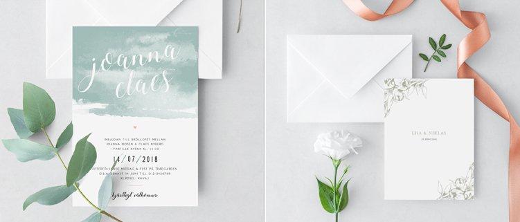 Inbjudningskort Vårbröllop