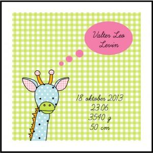 Giraff Doptavla Poster