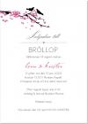 Bird branch Inbjudningskort