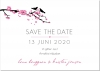 Bird branch Save the date + kuvert