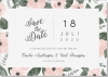 Flora Save the date + kuvert