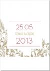 Flowery Swirls Inbjudningskort