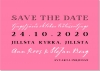 Plain Text Save the date + kuvert