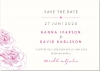 Rose Save the date + kuvert