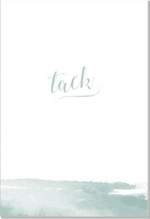 Akvarell Tackkort