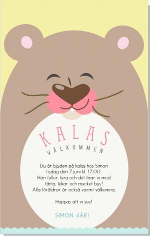Bear inbjudan Kalas