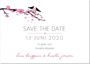 Bird branch save the date