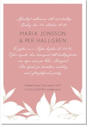 Blanka bröllopsinbjudan