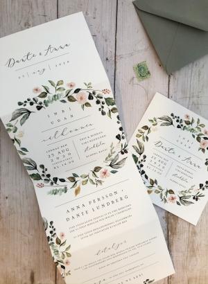 Inbjudningskort bröllop