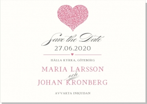Blooming Heart save the date