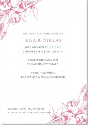 Blooming bröllopsinbjudan