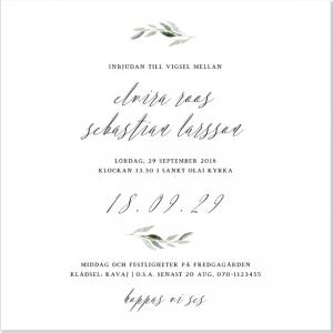 Botanic Inbjudningskort till bröllop