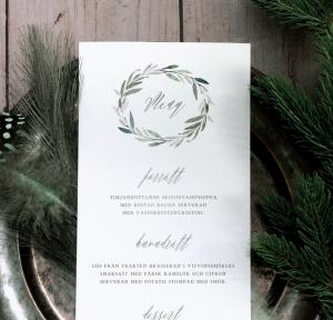 Bröllopsmeny