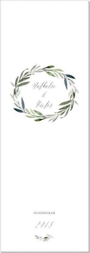 Botanic Festprgram bröllop