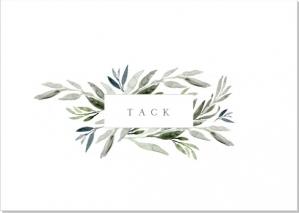 Botanic Tackkort till begravning