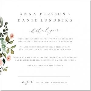Inbjudaningskort Text