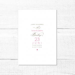 Carmen Inbjudningskort Bröllop
