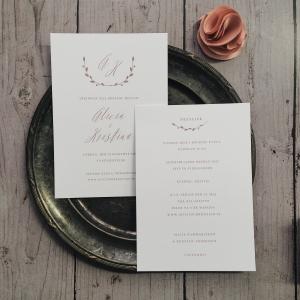 Couronne bröllopsinbjudan