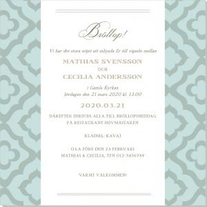 Deco inbjudan bröllop