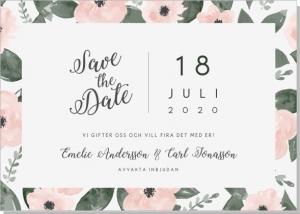 Flora Save the date kort