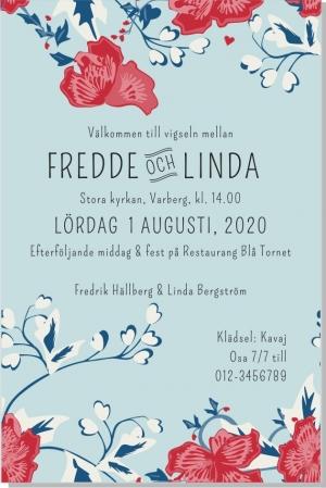 Garden inbjudningskort bröllop enkel