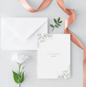 Blooming Inbjudningskort till bröllop
