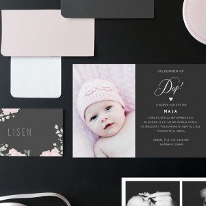 Mini Inbjudningskort till dop, födelse eller namngivning