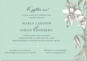 Iris bröllopsinbjudan