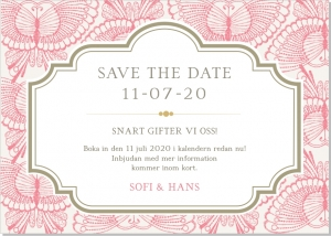 Lace Butterfly save the date