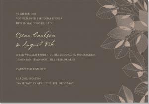 Leaves bröllopsinbjudan enkel