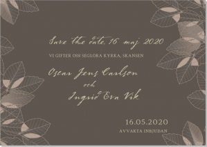 Leaves save the date