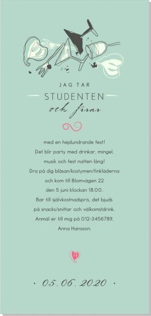 Lets party studentinbjudan