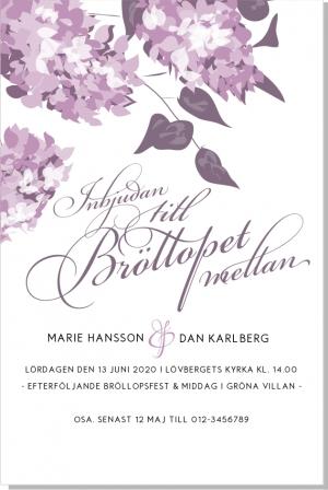 Lilac bröllop inbjudan