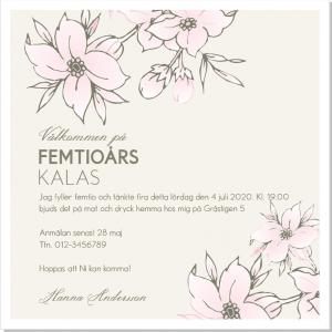 Lulu Flowers fest inbjudningskort