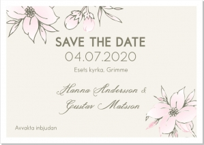 Lulu Flowers save the date