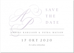 One save the date