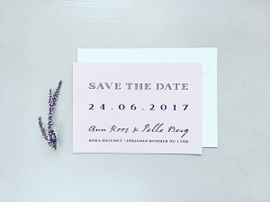 Plain Text • Save the Date kort | TRYCKSTUDION.SE