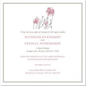 Poppy Inbjudning Bröllop