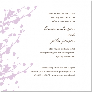 Springtime bröllopsinbjudan
