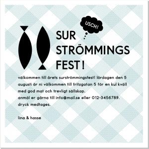 Surströmming inbjudningskort fest
