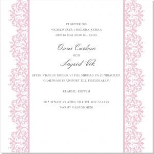 Vienna bröllopsinbjudan