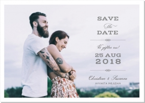 Vintage save the date - kort med foto