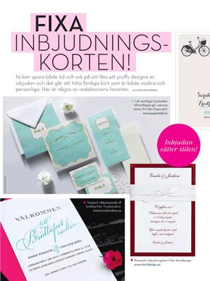 Fixa inbjudningskorten! i tidningen Allt om bröllop