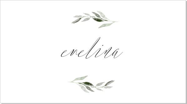 Printable Botanic Placeringskort Namn
