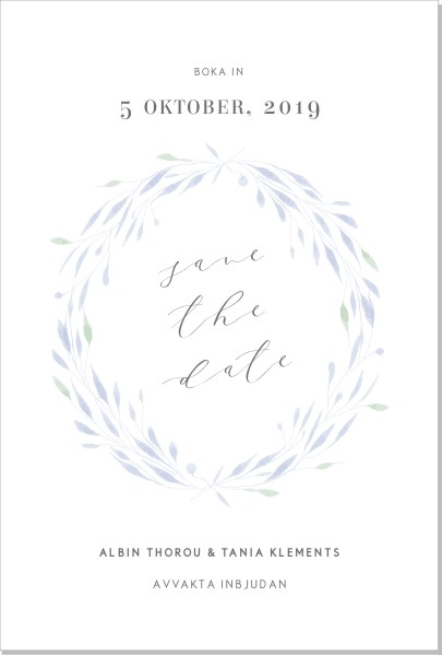 Printable Nova Save the date + kuvert