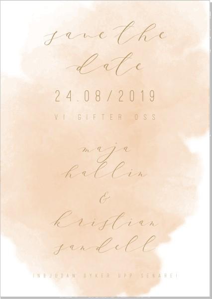 Printable Bon Save the date + kuvert